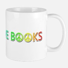 Peace Love Books Mugs