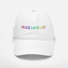 Peace Love Art Baseball Baseball Baseball Cap