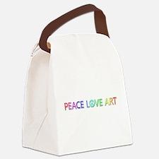 Peace Love Art Canvas Lunch Bag