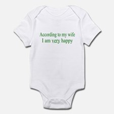 According To My Wife Infant Bodysuit