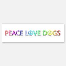 Peace Love Dogs Bumper Sticker 10 Pack