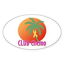 Club Chemo Liver/Bladder Oval Decal