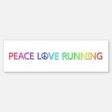 Peace Love Running Bumper Sticker 10 Pack