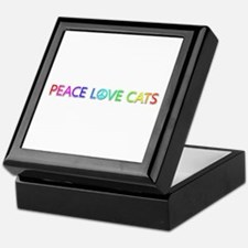 Peace Love Cats Keepsake Box