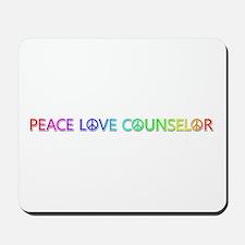 Peace Love Counselor Mousepad