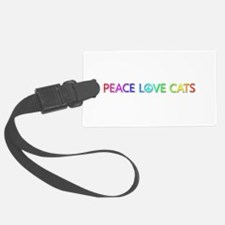 Peace Love Cats Luggage Tag