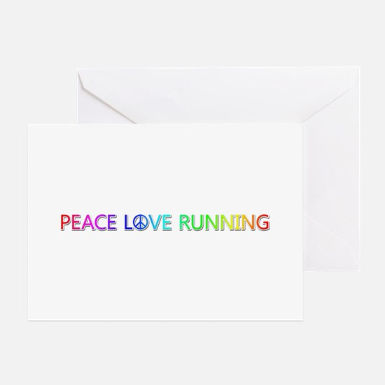 Peace Love Running Greeting Card