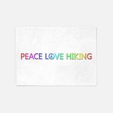 Peace Love Hiking 5'x7' Area Rug