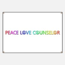 Peace Love Counselor Banner