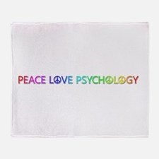 Peace Love Psychology Throw Blanket