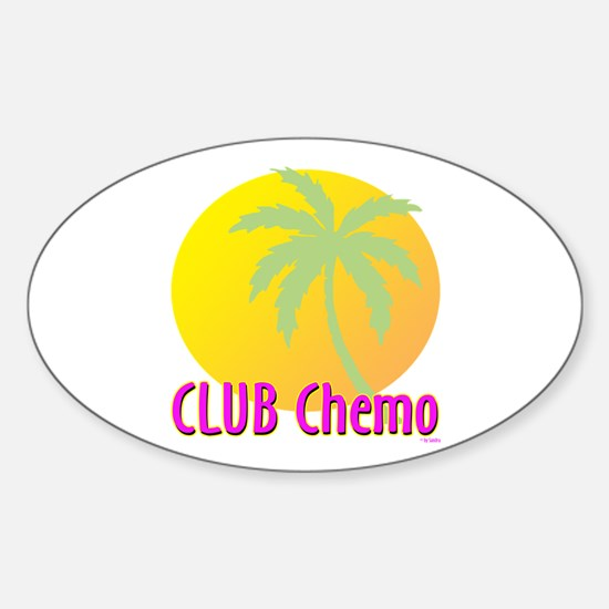 Club Chemo Oval Decal