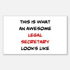 awesome legal secretary Sticker (Rectangle)