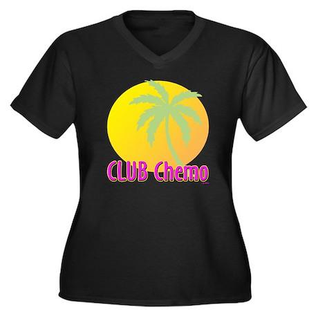 Club Chemo Women's Plus Size V-Neck Dark T-Shirt