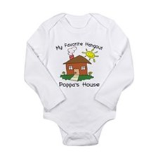 Unique Poppa Long Sleeve Infant Bodysuit