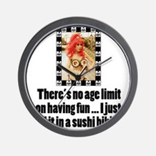 No Age Limit Wall Clock