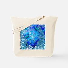 Exotic Birds Peacock Feathers Garden Blue Tote Bag