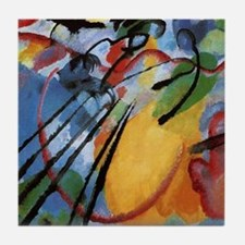 Cute Abstract painting Tile Coaster