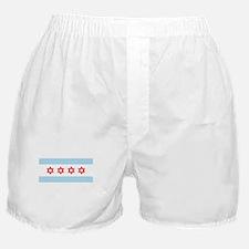 Chicago Flag Jewish Boxer Shorts
