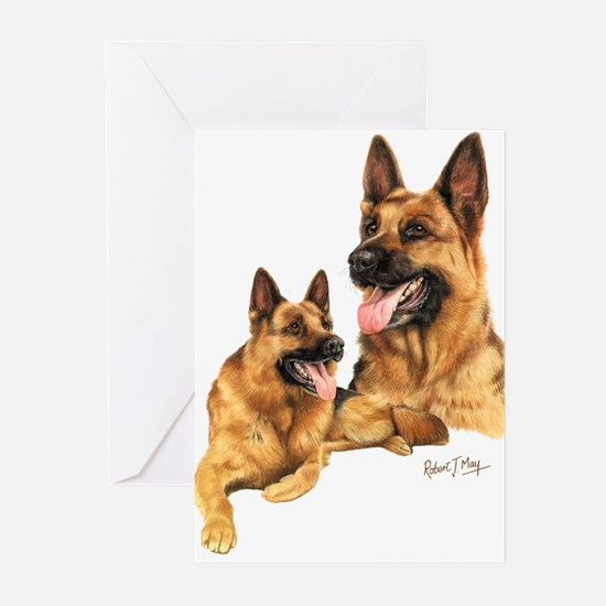 Cute German shepherd Greeting Cards (Pk of 10)