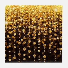 Luxurious Glamorous Sparkle Glitter B Tile Coaster