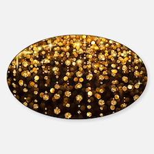 Luxurious Glamorous Sparkle Glitter Sticker (Oval)