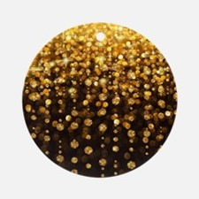 Luxurious Glamorous Sparkle Glitter Round Ornament