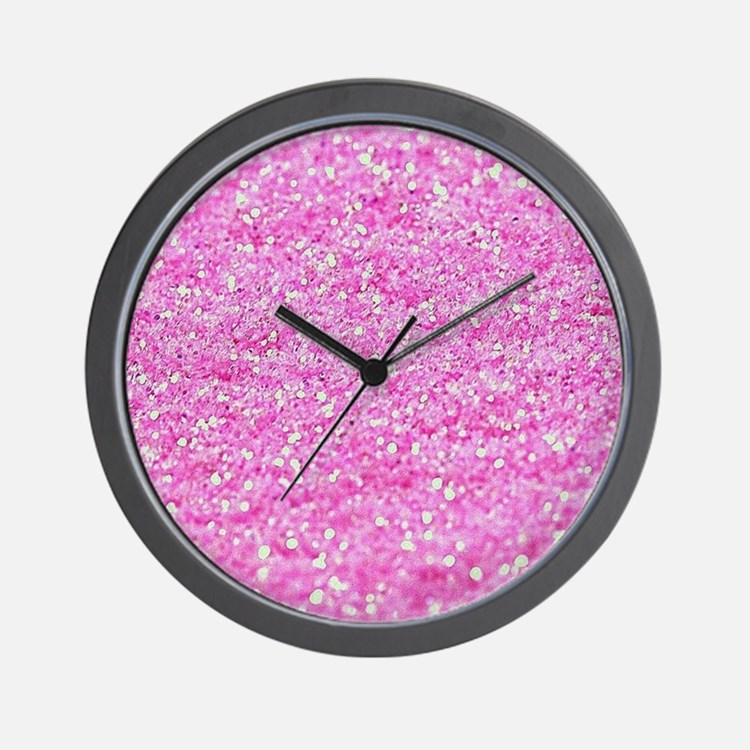 Luxurious Glamorous Sparkle Glitter Bli Wall Clock