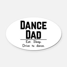Cute Dance Oval Car Magnet