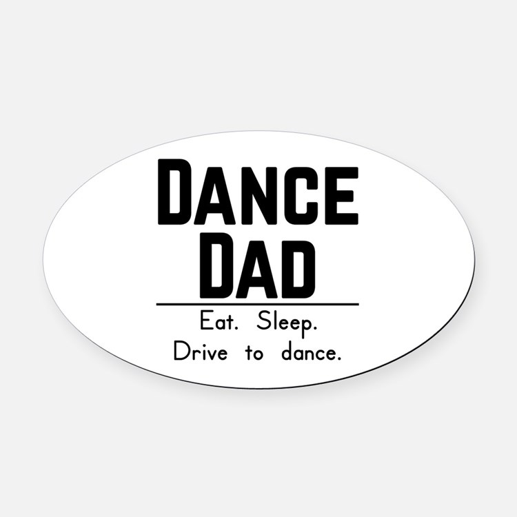 Cute Parents day Oval Car Magnet