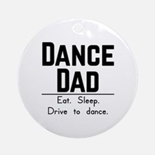 Cute Parents day Round Ornament