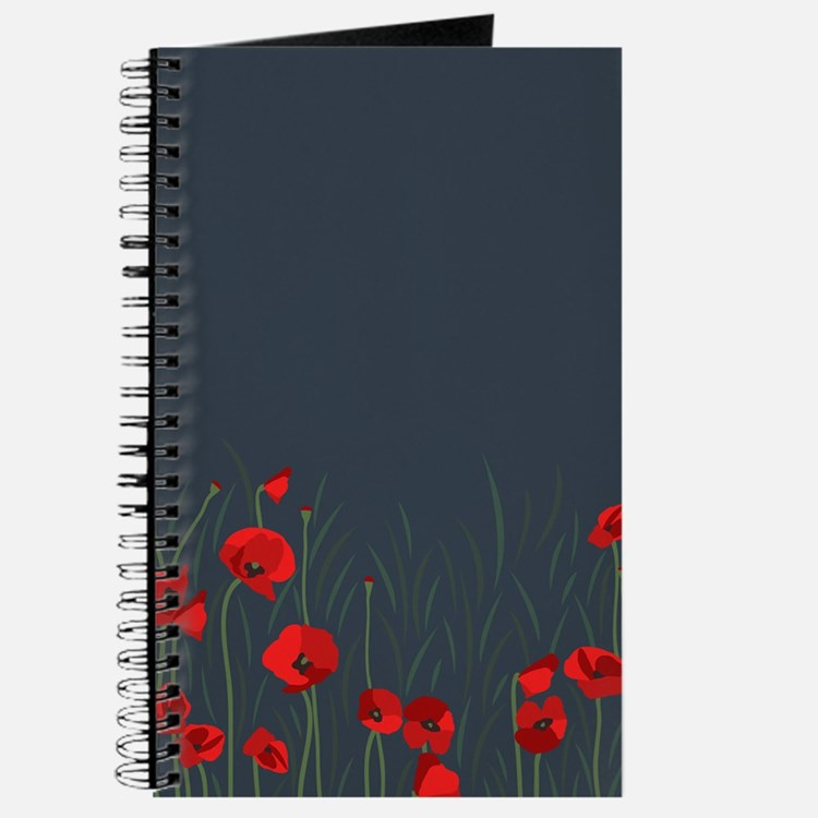 Night, poppies Journal