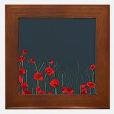 Night, poppies Framed Tile