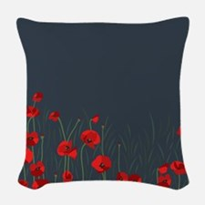 Night, poppies Woven Throw Pillow