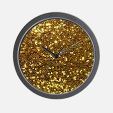 Luxurious Glamorous Sparkle Glitter Bli Wall Clock