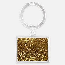 Luxurious Glamorous Sparkle Gli Landscape Keychain