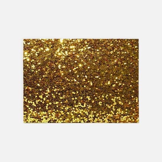 Luxurious Glamorous Sparkle Glitter 5'x7'Area Rug