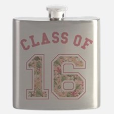 Class of 16 Floral Pink Flask