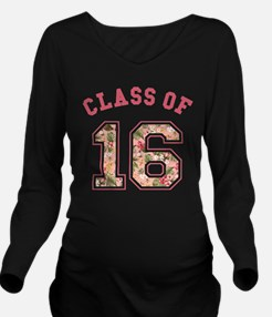 Class of 16 Floral Pink Long Sleeve Maternity T-Sh