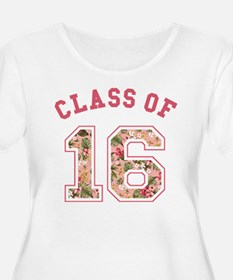 Class of 16 Floral Pink Plus Size T-Shirt