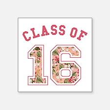 Class of 16 Floral Pink Sticker