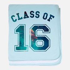 Class of 16 Space baby blanket