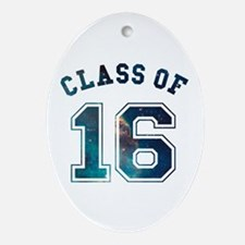Class of 16 Space Oval Ornament
