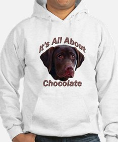 All About Chocolate Lab Hoodie