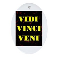 VIDI VINCI VENI Oval Ornament