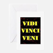 VIDI VINCI VENI Greeting Card