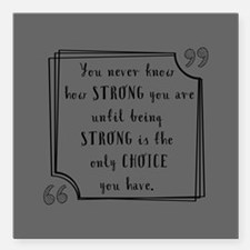 """Being Strong Inspiration Square Car Magnet 3"""" x 3"""""""