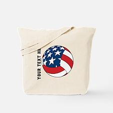 American Flag Volleyball (Custom) Tote Bag