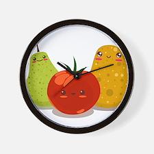 Funny Fruits Fun Pack 2 Wall Clock