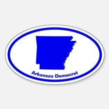 Arkansas BLUE STATE Oval Decal