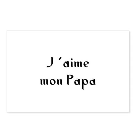 J 'aime mon Papa Postcards (Package of 8)